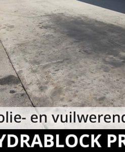 Hydrablock Pro - beton steen - oliewerend vuilwerend