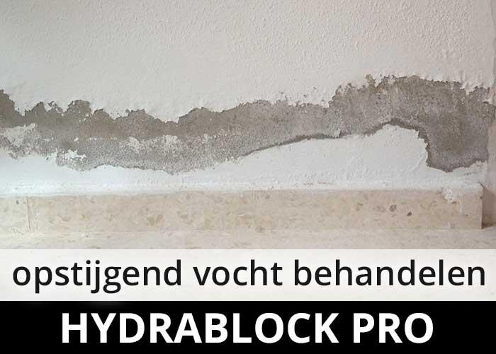 Hydrablock Pro - opstijgend ocht - optrekkend vocht