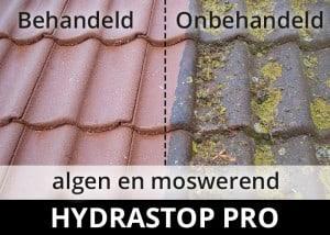 Hydrastop Pro impregneermiddel - steen dakpannen algen en moswerend