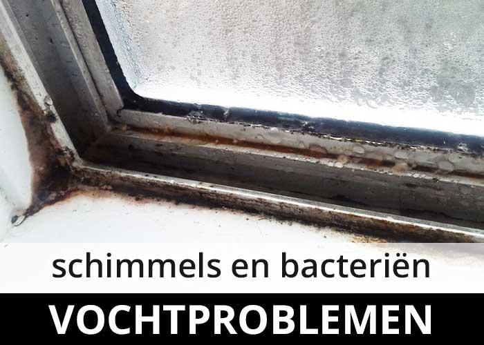 vochtproblemen condensatie - schimmels bacterien