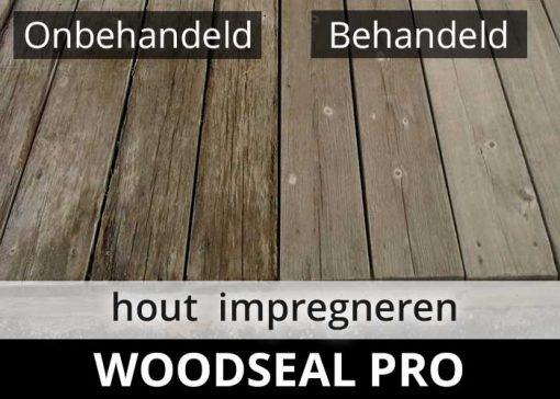 Woodseal Pro impregneermiddel - hout riet rotan impregneren voor na behandeling